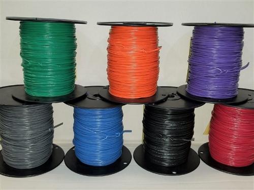 Leitungen PVC blau Draht 30,5m 24AWG UL1007,UL1569 Cu  300V 3050//1 BL005 Einader